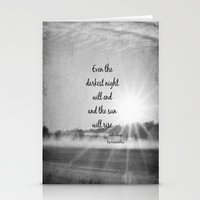 les miserables Stationery Cards featuring Les Miserables Quote Victor Hugo by KimberosePhotography