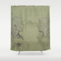 true detective Shower Curtains featuring TRUE DETECTIVE by Tomcert