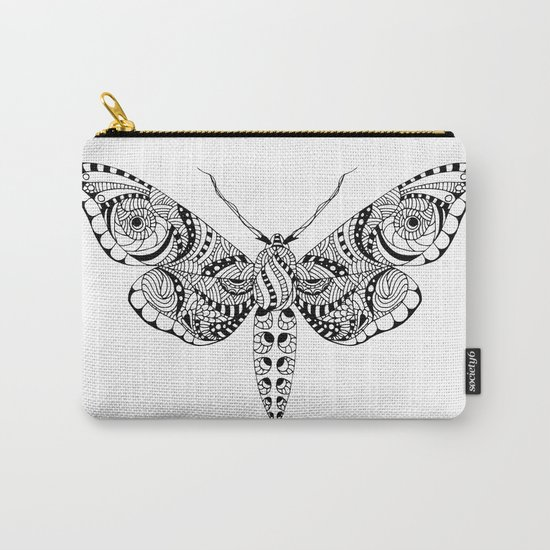 Black butterfly Carry-All Pouch