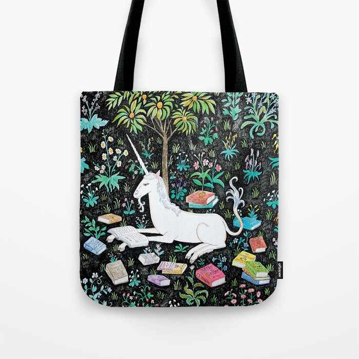 The Unicorn Is Reading Tote Bag By Stephterao Society6