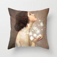 lady gaga Throw Pillows featuring Wish by Christian Schloe