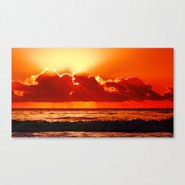 Sunrise Over Forster Beach Canvas Print