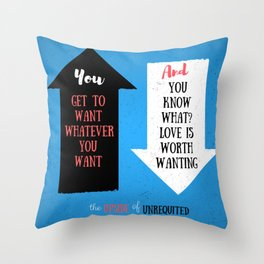 The Upside of Unrequited by Becky Albertalli quote Throw Pillow