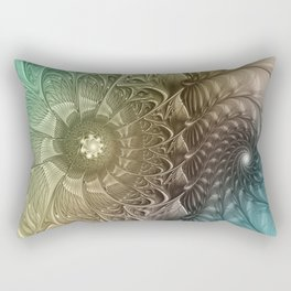 Togetherness, Fractal Art Abstract Rectangular Pillow
