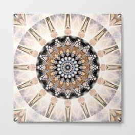 Mandala Purity Metal Print