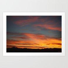 Rocky Mountain Silhouette Art Print