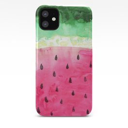 Watercolor Watermelon iPhone Case