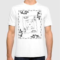 The Great Piggy Bank Robbery MEDIUM White Mens Fitted Tee