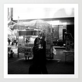 Strangers of New York  Art Print
