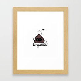 shit happens Framed Art Print