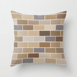 Kinda Brickish Throw Pillow