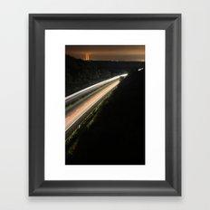 :: highway at night :: Framed Art Print