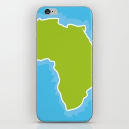 map of Africa Continent and blue Ocean. Vector illustration iPhone Skin
