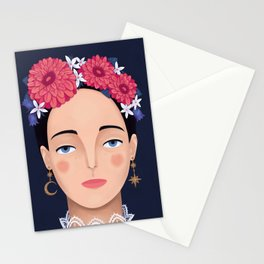 Girl with Flower Crown Stationery Cards