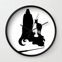 snape Wall Clocks featuring Always by Mari Anrua