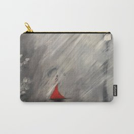 Lady in red - Rainy day Carry-All Pouch