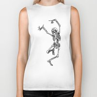 tupac Biker Tanks featuring Dancer Skeleton by Hottest Dog In Town