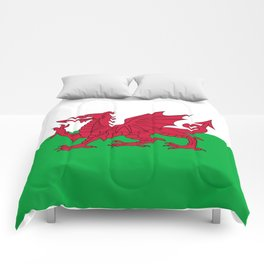 National flag of Wales - Authentic version Comforters