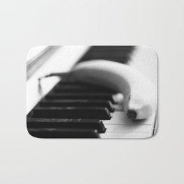 Banana on piano Bath Mat