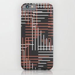 Line art convention iPhone Case