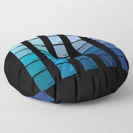 Shades of Blue Pantone Floor Pillow