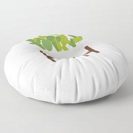 Cactus in Planter Floor Pillow