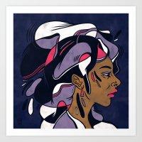 Hair #8 Art Print
