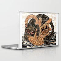 ying yang Laptop & iPad Skins featuring Ying-Yang cats by Michelle Behar