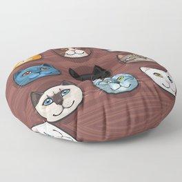 I love cats Floor Pillow