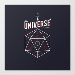 Another Universe - Minimalist Travel Poster Canvas Print