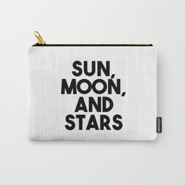 Sun, moon, and stars Carry-All Pouch