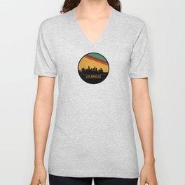 Los Angeles Skyline Unisex V-Neck