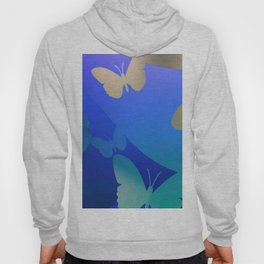Abstarct Background with Butterflies Hoody