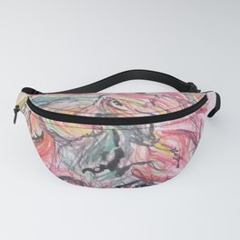 Colored Pencil Flowers Fanny Pack
