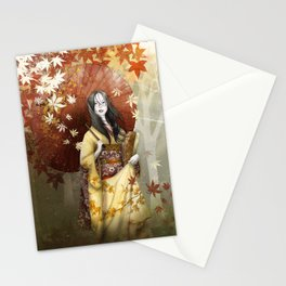 Bringing home a hint of autumn Stationery Cards