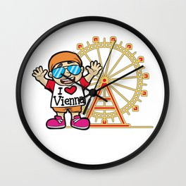 I LOVE VIENNA Austria Tourist Tourism City Travel Wall Clock
