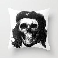 che Throw Pillows featuring Che Guevara by Motohiro NEZU
