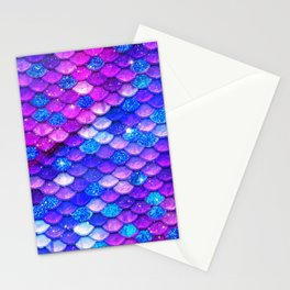 Mermaid Scales Girly Stationery Cards