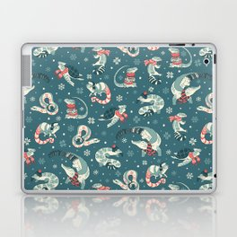 Winter herps in dark blue Laptop & iPad Skin