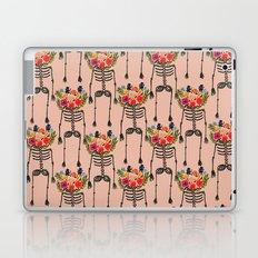 Skeleton and Flowers. Laptop & iPad Skin