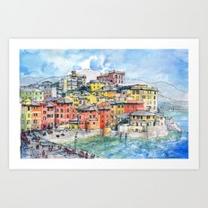 Genova Boccadasse (Liguria-Italy) Art Print