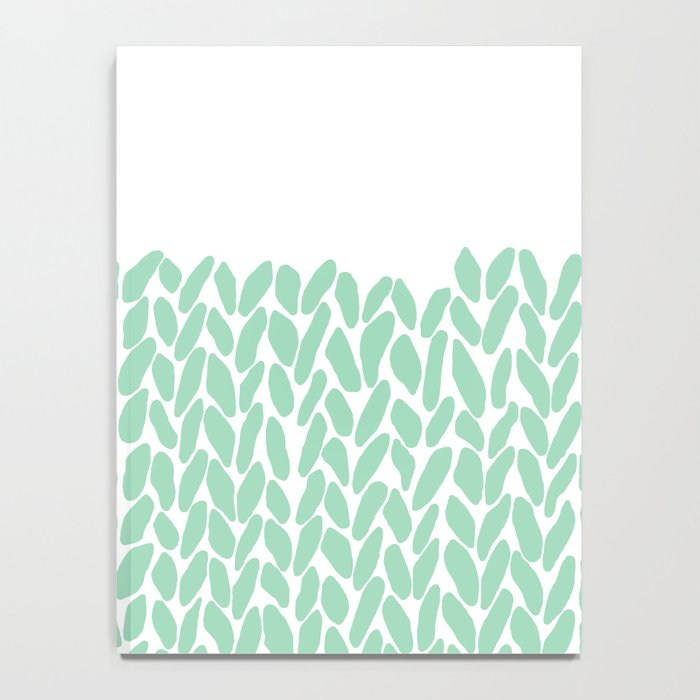 Half Knit Mint Notebook