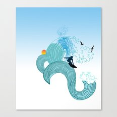 surfing 4 Canvas Print