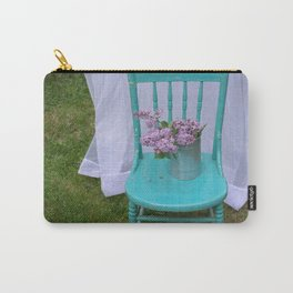 Lilacs in turquoise chair Carry-All Pouch