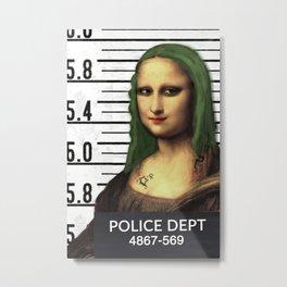 Gioconda in jail Metal Print
