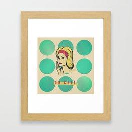 oh shit Framed Art Print