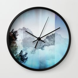 Boreal Lights on the Mountains Wall Clock