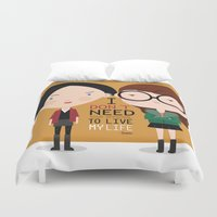daria Duvet Covers featuring Daria by Maria Jose Da Luz