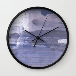 Slate gray stained watercolor Wall Clock
