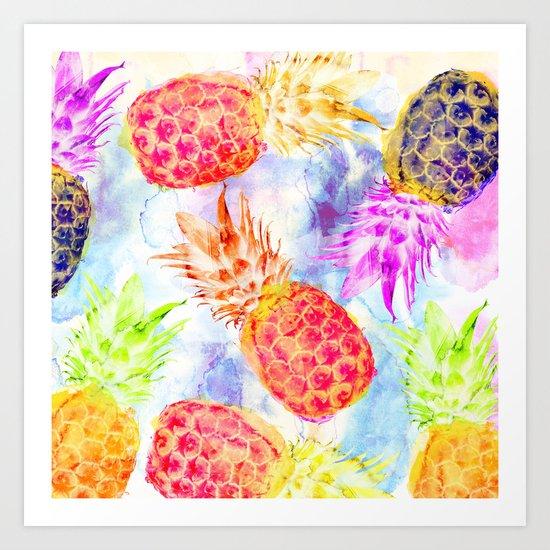 Pineapple's Rhapsody Art Print